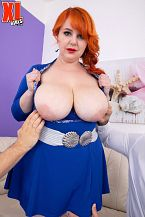 Katrin Porto: Thick, Juicy Redhead Drains Two Studs