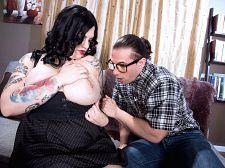 Nerd tutor gets dream bra-buster
