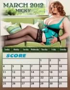 Score 2012 Calendar
